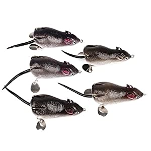 ZZY 5pcs 7cm Classic Fishing Bait Lei Frog Bait 17.43g Black Fish Fetch Bait Fishing Lures from ZZY