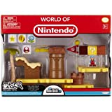 Mario Bros - World of Nintendo Micro Land Playset Deluxe: Layer Cake Desert with Ice Mario figura (Jakks Pacific JAKKNIN020LCDIM)