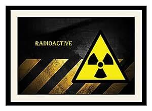 ArtStory Wooden Radioactive Framed Wall Painting (30 cm x 20 cm x 2.5 cm)