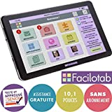 FACILOTAB Tablette L 10,1 Pouces WiFi/3G+ - 32 Go - Android 9 (Interface simplifiée pour Seniors)