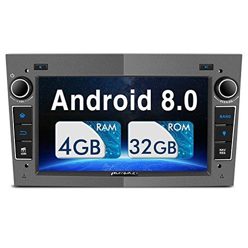 Pumpkin Android 8.0 Autoradio Moniceiver für Opel mit Navi Unterstützt Bluetooth DAB+ WLAN 4G Android Auto USB MicroSD CD DVD 2 Din