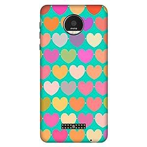 Bhishoom Designer Printed Back Case Cover for Motorola Moto Z :: Motorola Moto Z Droid in USA (Heart :: Love :: Red :: Doodle :: Texture & Pattern)