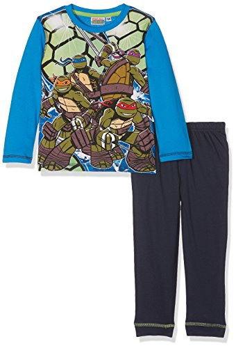 Nickelodeon Jungen Pyjama-Sets Ninja Turtles Ultimate Heroes, Blau, 5-6 Jahre (Blue Turtle Ninja)