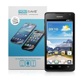 Yousave Accessories Film Protection Huawei Ascend Y530 Écran Protecteur Garde Paquet 5