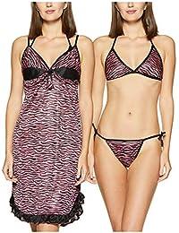 GLOSSIA Women's Babydoll Regular Fit Short Nighty Set