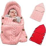 Colorido Bebé recién nacido Wrap Swaddle Manta, oenbopo niños saco de dormir Saco de dormir para bebé (lana Knit–Manta para bebé silla de paseo Wrap para 0–12meses bebé