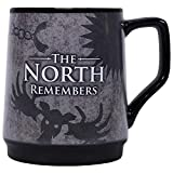Half Moon Bay mugbgt11 400 ML Taza Juego de Tronos termosensibile-The North Remembers, Negro