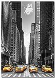 Panorama Poster Taxi New York 50 x 70 cm - Imprimée sur Poster de Grande qualité - Poster Ville - Poster Moderne pour la Maison - Décoration Murale Vintage - Tableau de Photos