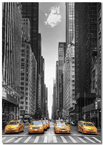 Panorama® poster stampe da parete taxi di new york 100 x 70 cm | stampato su carta 250gr alta qualità | quadri moderni soggiorno | stampe da parete moderne per incorniciare | decorazione parete