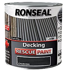 Ronseal Rsldrpch5l 5 Litre Decking Rescue Paint - Charcoal