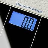 Etekcity Bilancia Pesapersone Digitale con Display Retroilluminato, Metro Incluso, Batterie AAA, Bilancia Elettronica con Tecnologia Step-on, Autospegnimento,180kg/400lb