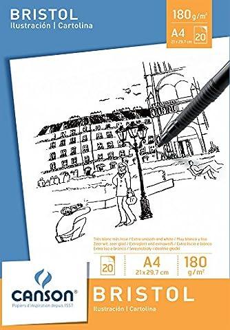 Canson Bloc 200005761 Papier à dessin Blanc