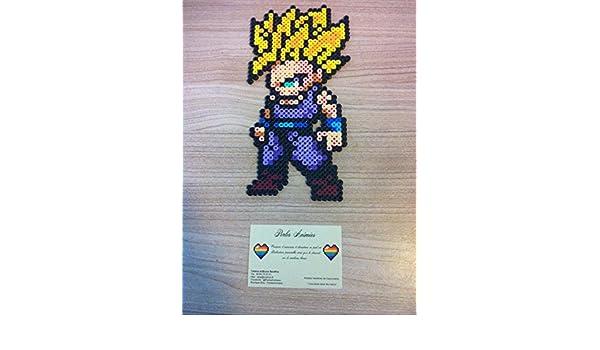 Pixel Art Perler Beads Dragon Ball Gohan Ssj2 Amazonco