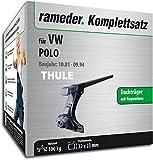 Rameder Komplettsatz, Dachträger SquareBar für VW Polo (115957-00436-1)