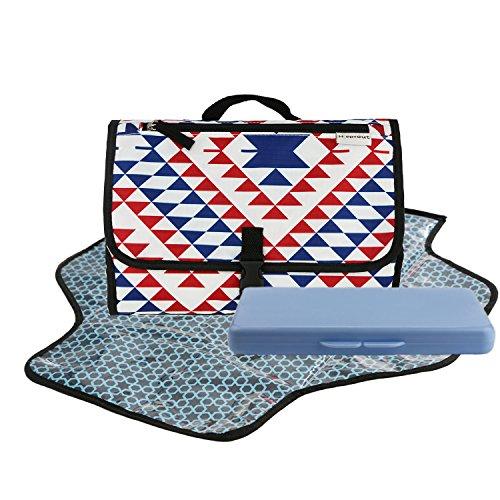 Toweter Portable Baby Wickelauflagen Wickeltasche Wickeltisch für unterwegs Wickelauflage (Dreieck)