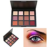 AMBITO Neutral Warme Lidschatten Kosmetic Makeup Set 12 Farben Profi Lidschatten Palette Make Up Kosmetik Eyeshadow Augenpalette - #1