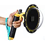 "TELESIN 6"" Underwater T05 Dome Port Diving Lens Photography Dome Port For The Gopro Hero 5 Black (T05 Dome Port,Yellow )"