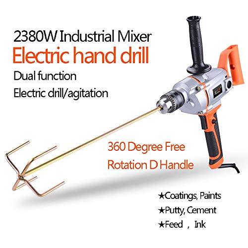 Dual-hammer-drill (Bohrhämmer- Rührbohrer - Industriebohrmaschine Zementspachtelpulver Hochleistungsmischer 16mm (Color : Industrial aircraft drill))