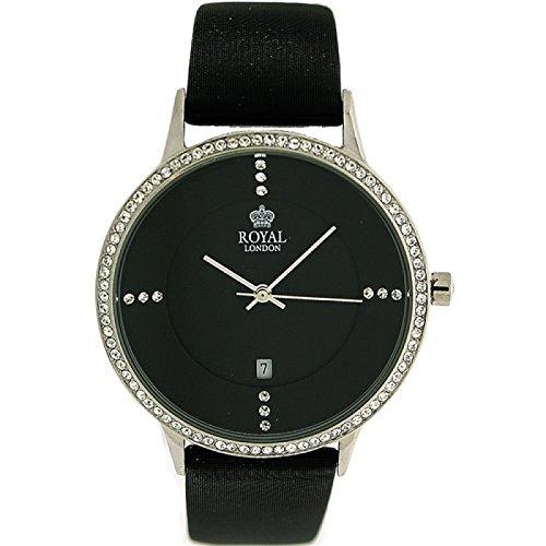 Royal London 20152-01 - Reloj para mujeres, correa de cuero color negro