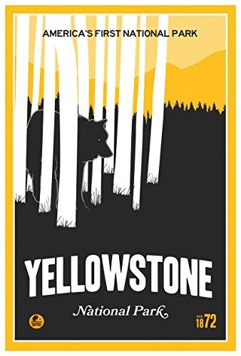 Northwest Art Mall Yellowstone Park,America 's First National Park Poster Reise Kunstdruck von Matt Messing 12x18 inch