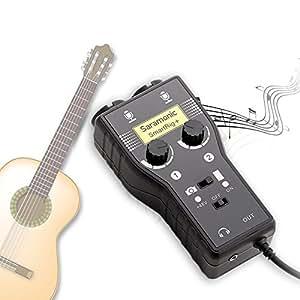 Saramonic SmartRig + amplificateur Micro pour iPad/iPhone /Guitare Basse Instrument audio Interface Adaptateur pour caméras DSLR, caméscope, iOS, Android, Mac / PC