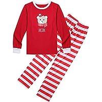 Bornbayb Rote und grüne Streifen Familien zusammenpassende Kleidung Weihnachtsfamilien Pyjamas stellten Jungen Mädchen Mutter Vati zusammenpassende Outfits Kleidung EIN