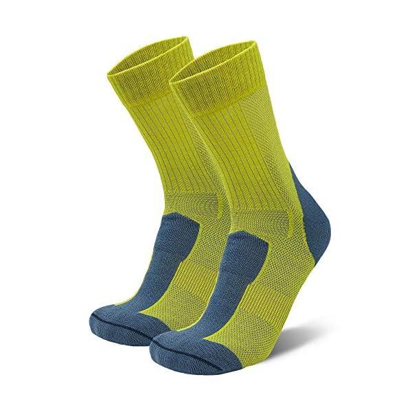 Calcetines Ligeros de Senderismo y Trekking de Lana Merina, para Hombre y Mujer, Térmicos, Transpirables, Acolchados y… 1
