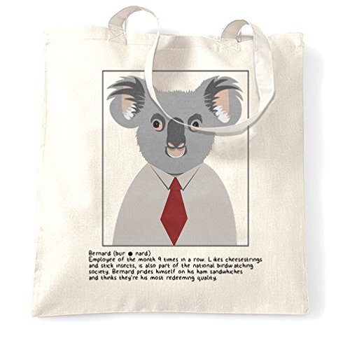 Bernard Koala Wildlife Jungle eucalipto simpatici animali Fluffy Sacchetto Di Tote White