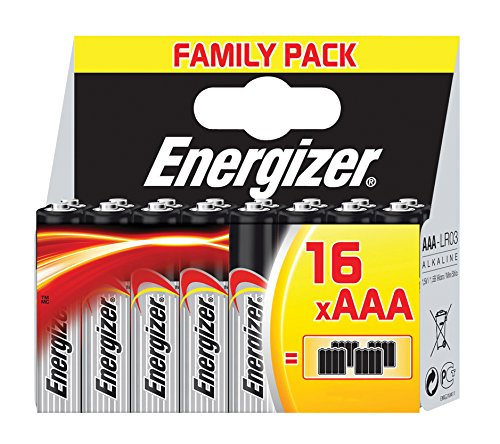 Energizer 628125 Family Pack Classic Batterie Alcaline Ministilo AAA, 16 Pezzi