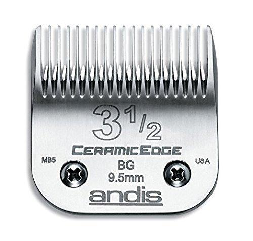 Andis CeramicEdge Carbon-Infused Stahl Clipper Klinge, Size-3-1/2, beinhaltet eine Bonus beauwis Klinge Bürste -