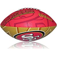Wilson Football NFL 49ers American MY/SC, Gelb/Rot, Junior, WL0206153740