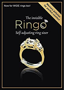 RINGO Size Specific Packs: 10-Pack of The Invisible Ring Sizer with Transparent Memory for a Perfect Fit - Not Metal from Chrome Cherry