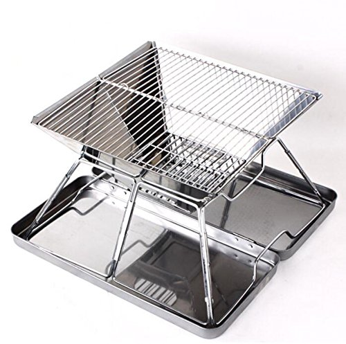 Edelstahl-Klapp Grill-Sets Holzkohlegrill