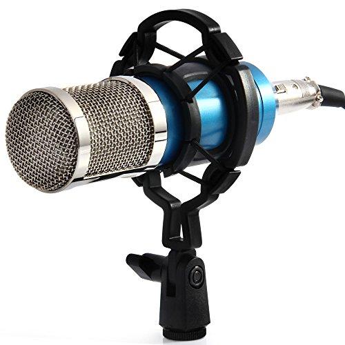 YooYoo BM-BM-800condensatore audio Microfono di registrazione con Shock Mount, blue