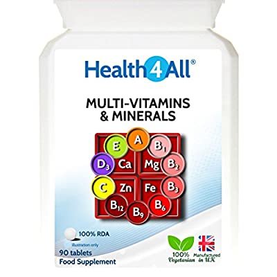 Health4All Multi-Vitamins & Minerals One a day | 100% RDA | Free UK Delivery by Health4All