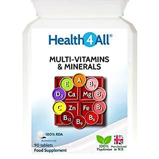 Health4All Multi-Vitamins & Minerals One a Day 90 Tablets   100% RDA (B00NEKQQIS)   Amazon price tracker / tracking, Amazon price history charts, Amazon price watches, Amazon price drop alerts