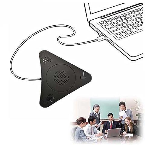 conférences Micro Haut parleur téléphone Internet téléphone Usb-500omnidirectionnel VoIP Haut-parleur omnidirectionnel Micro USB Desktop Microphone