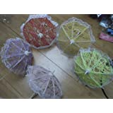5 x Barbie Sindy Bratz Doll's Small Lace Wedding Princess Style Umbrellas Parasols 5 Colours: Posted From London by Fat-Catz