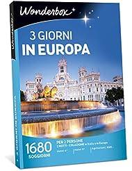 WONDERBOX Cofanetto Regalo per Coppia - Europa - 3 Giorni in Europa - 1680 SOGGIORNI per 2 Persone in Italia E in Europa