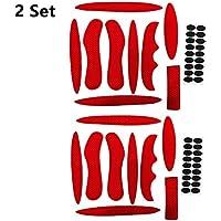 N/A Juego de 2 Almohadillas para Casco de Bicicleta, Almohadillas de Espuma universales para Casco de Bicicleta, Motocicleta