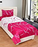 Decor Home Furnishing Pure Cotton Single Bedsheet With 1 Pillow Cover