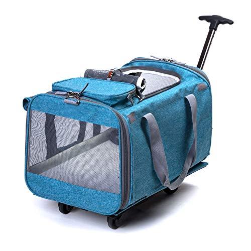 b3c9794cbf43 GHH Bolsa De Viaje para Mascotas Pet Carrier Portable Large Dog Stroller  Pet Travel Cochecito,Sky-Blue