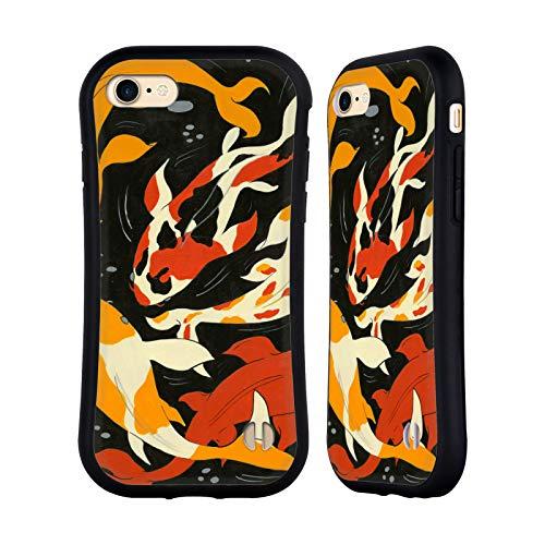 Head Case Designs Offizielle Amanda Laurel Atkins Koi Fisch Abbildung Hybrid Hülle für iPhone 7 / iPhone 8 -