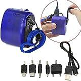 DaoRier Cargador USB de cargador de emergencia con cargador manual de mano y generador de emergencia Cargador USB, venta uno por uno