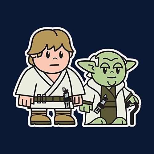 Mitesized Luke And Yoda Star Wars Men's Vest Navy Blue