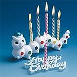 TIB Heyne Geburtstagskerzen-Halter Raupe mit 6 Kerzen bunt Einheitsgröße