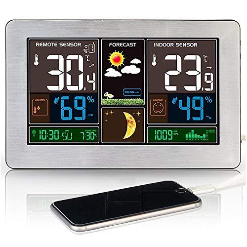 Station météo Météo Station Température Humidité Capteur sans fil Intérieur Extérieur Extérieur Hygromètre Mur de charge USB Prévisions