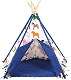Pericross® Kids Pentagon Teepee Tents Indian Tent for Children Indoor