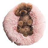 GetDoll Haustierbett, rund, Sofa, Stuhl, Welpen-Matte, Kissen zottelig, weich, warm für Kleine Katzen und Hunde