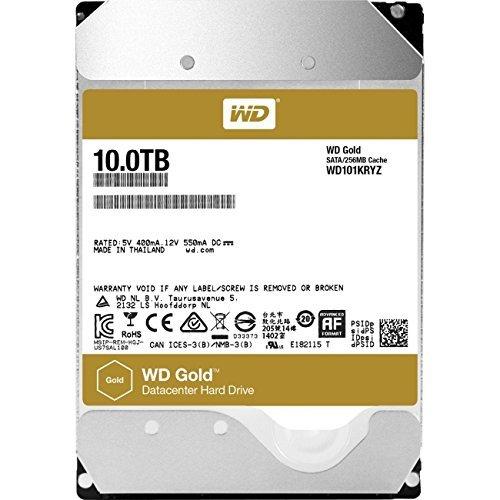 WD Gold 10TB HDD 7200rpm 6Gb/s serial ATA sATA 256MB cache 8,9cm 3,5Zoll intern RoHS compliant Enterprise Bulk